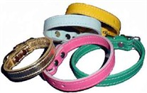 1/2 inch Wide Leather Dog Collars