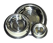 3 Quart Non-Tip Stainless Steel Dog Bowl
