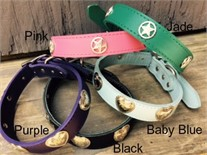 Country Heart or Lone Star Leather Dog Collars
