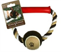 Dental Cotton Ring with Tennis Ball Dog Toy
