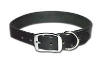 Flat Latigo Leather Dog Collar 3/8 Inch Wide