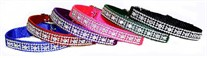 Jeweled Nylon Dog Collar 3/8 In Wide