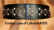 Knotted Cross Leather Dog Collar