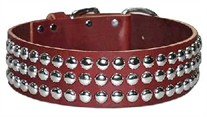 Leather Collar with Studs 2 inches wide