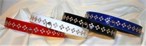 Patent Leather and Crystals Dog Collars
