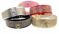 5 Row Rhinestone Collars