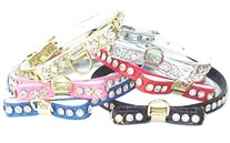Rhinestone Bow Collar  3/8 in wide