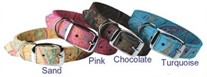 Paisley Leather Dog Collar size Large