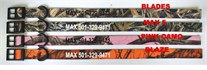 Personalized Nylon Camo Dog Collars