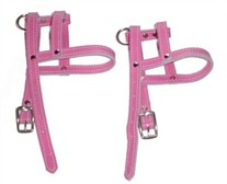 Pink Leather H-Style Dog Harness