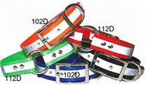 Reflective Stripe Dog Collar 3/4 in wide