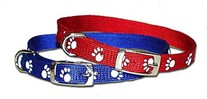 Reflective Paw Print Dog Collar