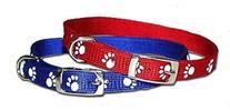 Reflective Paw Print Dog Collar