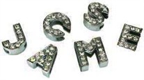 Rhinestone Letters and Charms for the Slider Collars
