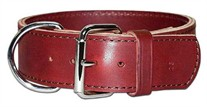 2-Ply Leather Dog Collar 2 Inches Wide