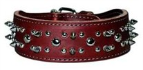 2 Inches Wide Spiked And Studded Leather Collars