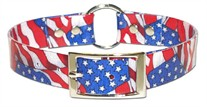 Stars and Stripes Dog Collar 3/4 inch wide