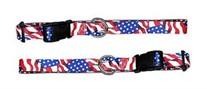 USA Printed Webbing Kwik Klip Collars 1 inch wide